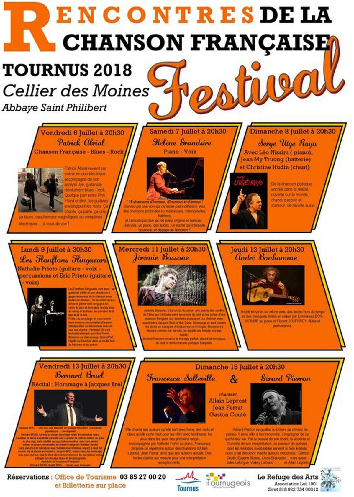 Festival Rencontres de la chanson française – Tournus 2018