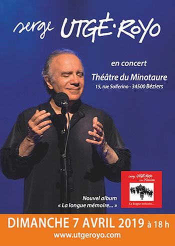 Dimanche 7 avril 2019, 18 h, à Béziers (34), Le Minotaure