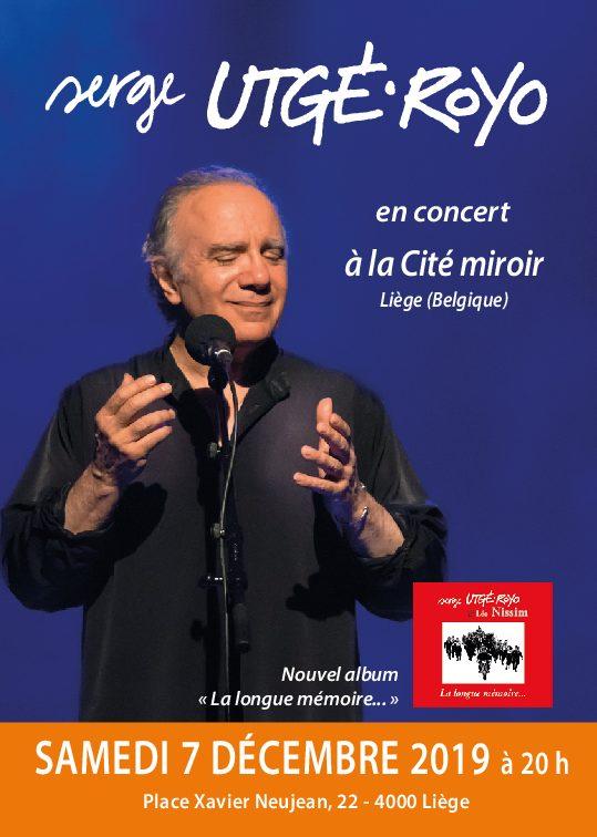 Le samedi 7 décembre, 20 h, à Liège (Belgique), La Cité miroir