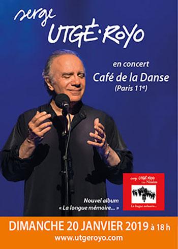 Dimanche 20 janvier 2019, à Paris (75011) pour fêter le nouvel album « La longue mémoire… »