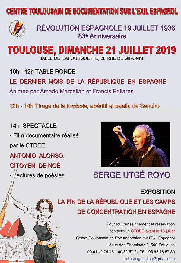 Dimanche 21 juillet 2019, à Toulouse (31), avec le CTDEE